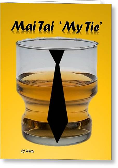 Abstract Mai Tie My Tie Drink Greeting Card