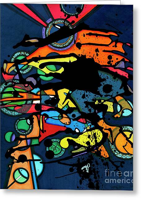 Abstract Man  Greeting Card