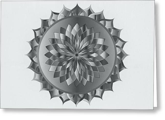 Abstract Mandala Art Greeting Card by Wall Art Prints