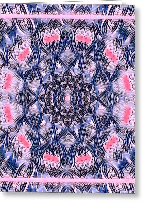 Abstract Mandala Pattern Greeting Card