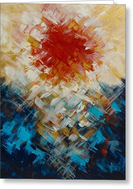 Abstract Blood Moon Greeting Card