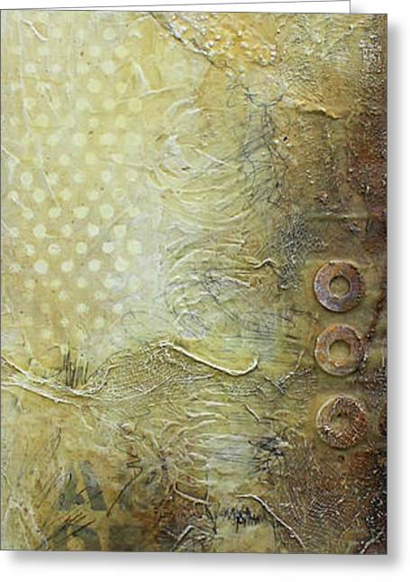Abstract Modern Art Earth Tones Greeting Card