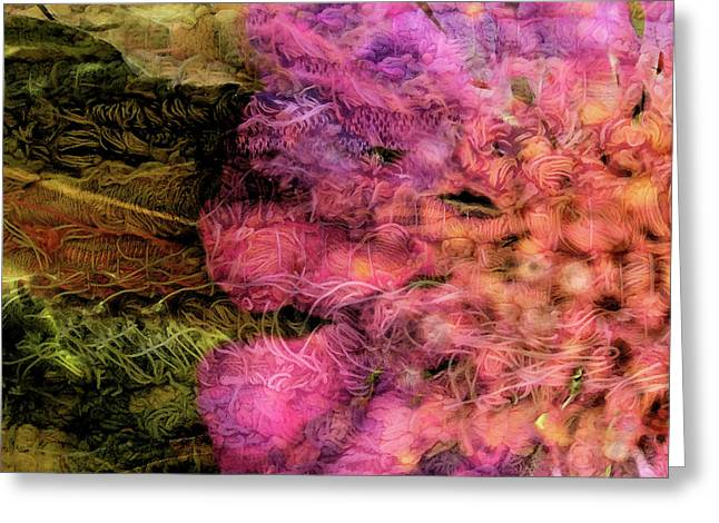 Abstract Montage Greeting Card by Bonnie Bruno