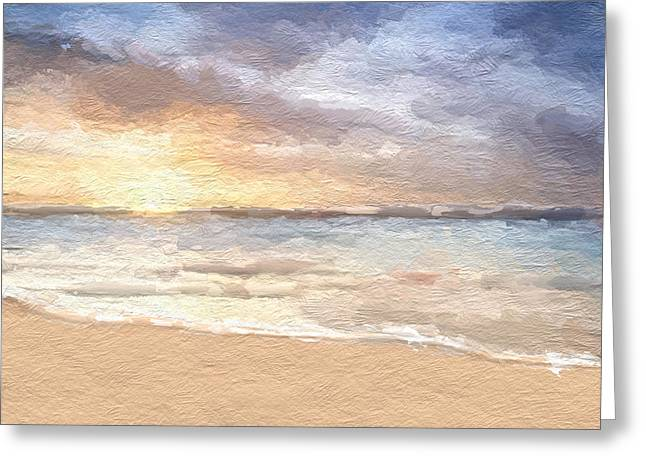 Abstract Morning Tide Greeting Card