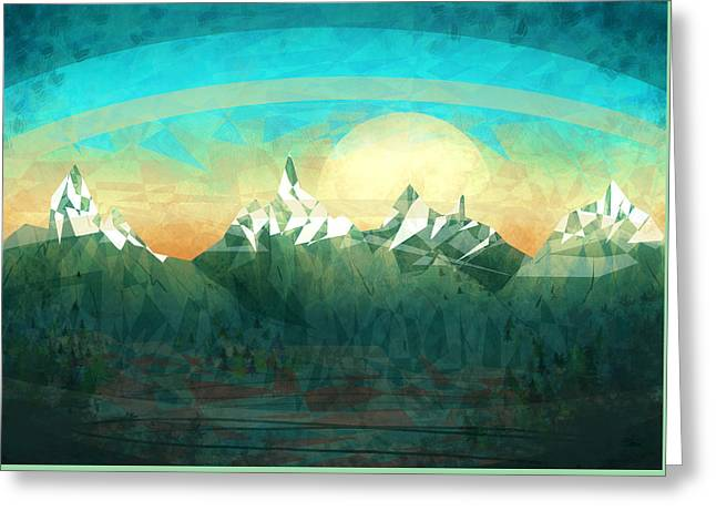 Abstract Mountain Greeting Card by Thubakabra