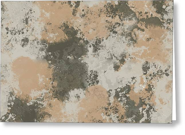 Abstract Mud Puddle Greeting Card