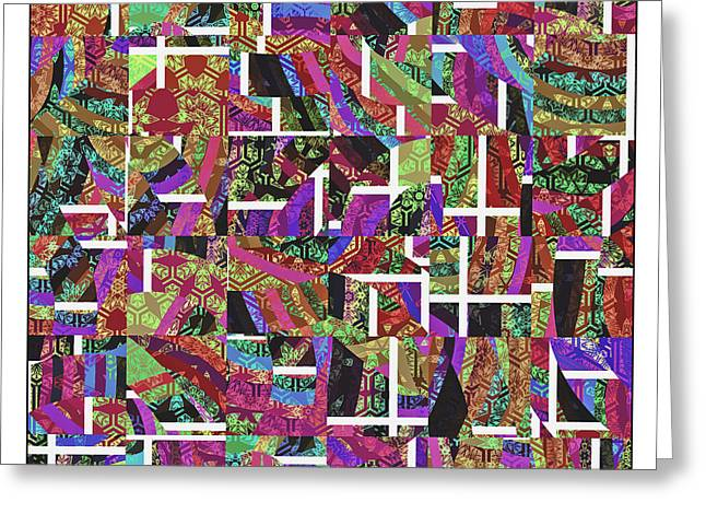 Abstract Multi Greeting Card by Susan Leggett
