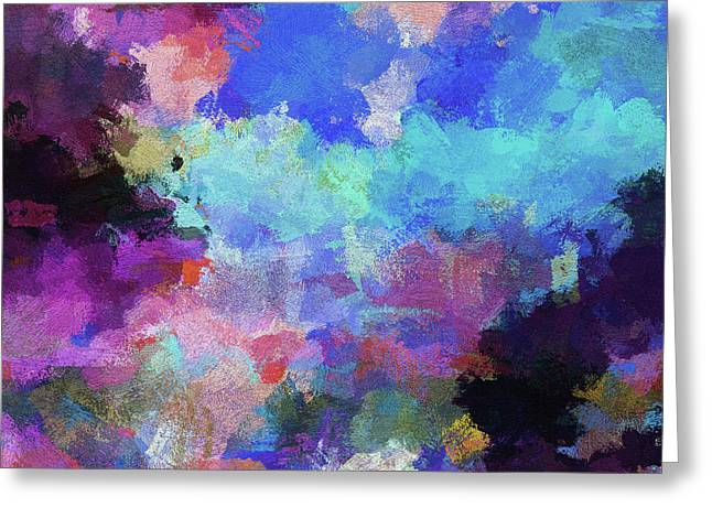 Abstract Nature Painting Greeting Card by Ayse Deniz