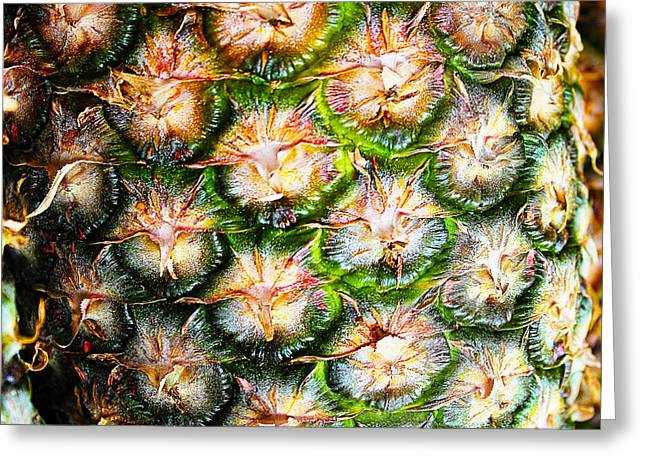 Abstract Nature Tropical Pineapple A712078 Square Greeting Card by Ricardos Creations