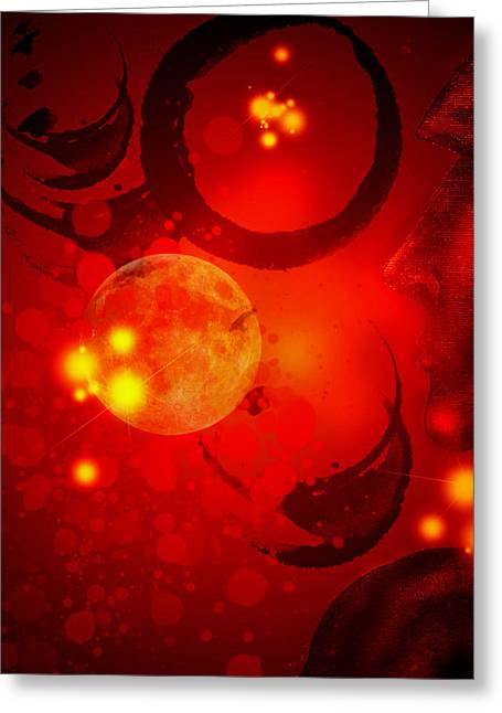 Abstract-nebula Greeting Card by Patricia Motley
