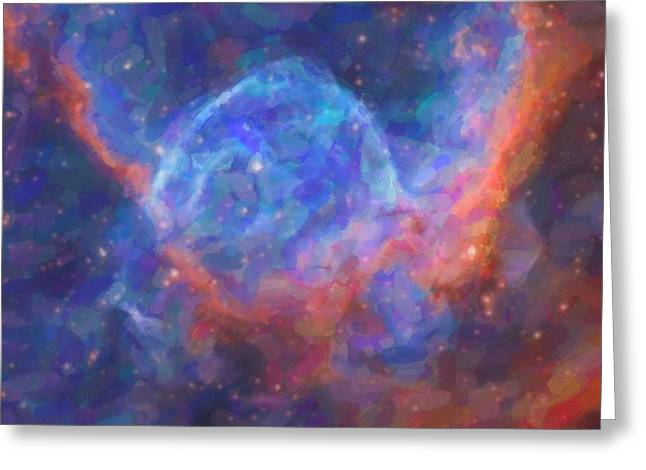 Abstract Nebulla With Galactic Cosmic Cloud 29 Greeting Card by Celestial Images