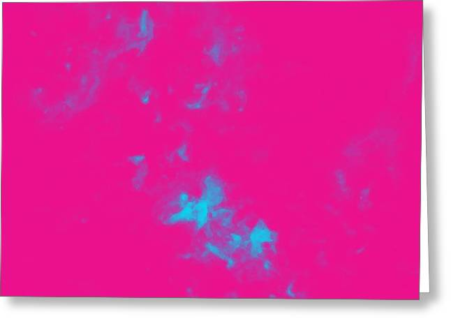 Abstract Nebulla With Galactic Cosmic Cloud 34a Greeting Card by Celestial Images
