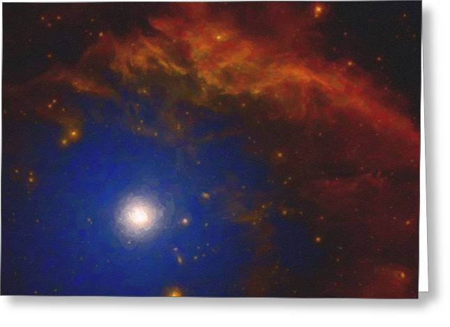 Abstract Nebulla With Galactic Cosmic Cloud 40 Greeting Card by Celestial Images