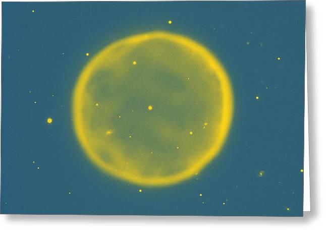 Abstract Nebulla With Galactic Cosmic Cloud 41 Circle 8 Greeting Card by Celestial Images
