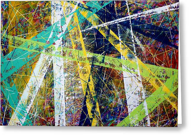 Abstract Nineteen -strength And Hope Greeting Card by Kume Bryant