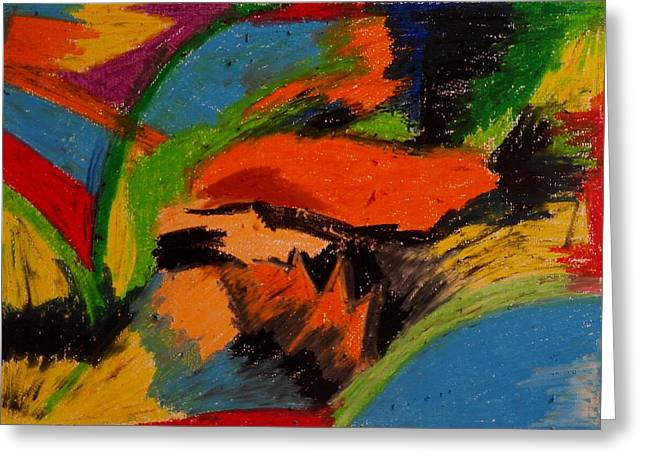 Abstract No. 4 Inner Landscape Greeting Card