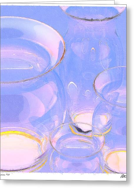 Abstract Number 18 Greeting Card