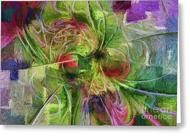 Greeting Card featuring the digital art Abstract Of Color by Deborah Benoit