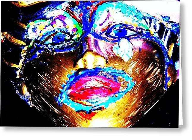 Abstract Of Faces Greeting Card by HollyWood Creation By linda zanini