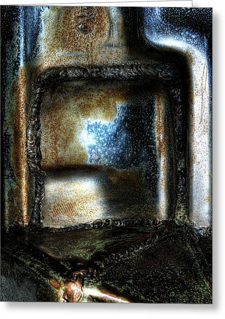 Abstract Of Steel Greeting Card by Scott Wyatt
