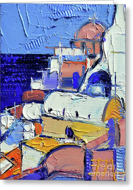 Abstract Oia View - Mini Cityscape 05 Greeting Card
