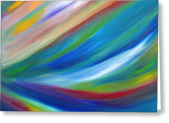 Greeting Card featuring the painting Abstract Oil Painting by Beth Akerman