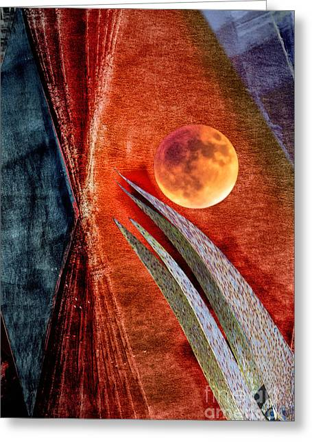 Abstract On Moon Greeting Card