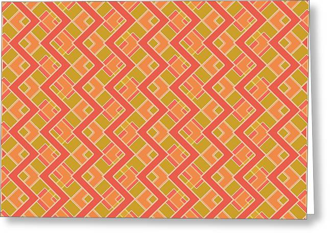 Abstract Orange, Red And Brown Pattern For Home Decoration Greeting Card