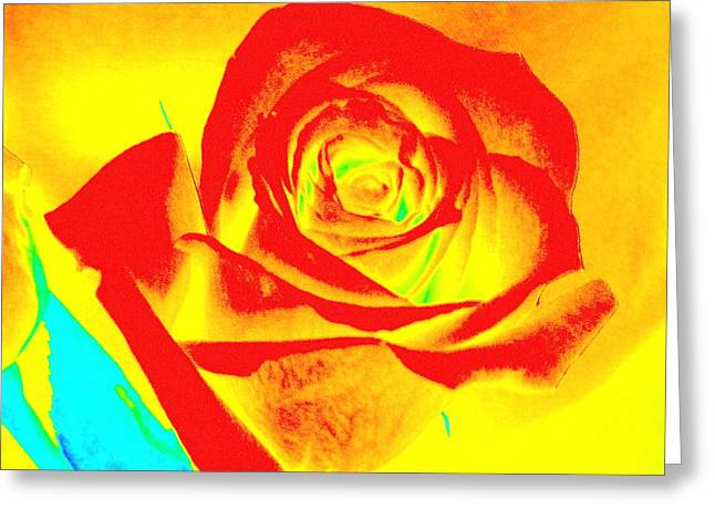 Abstract Orange Rose Greeting Card