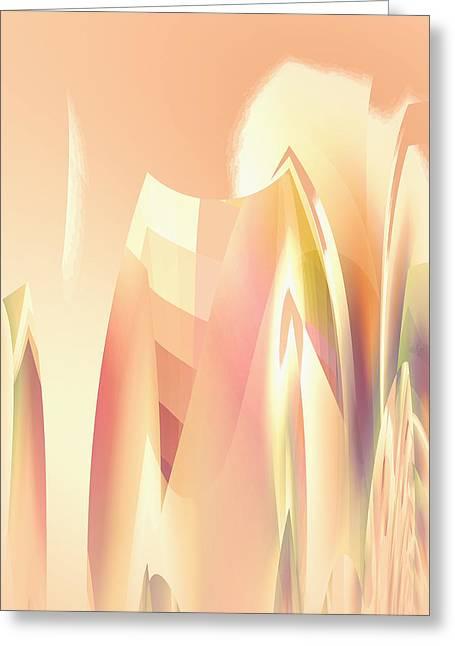 Abstract Orange Yellow Greeting Card