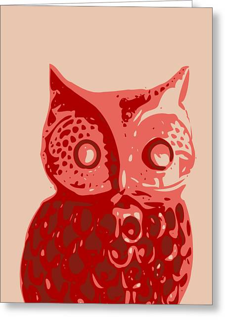 Abstract Owl Contours Glaze Greeting Card