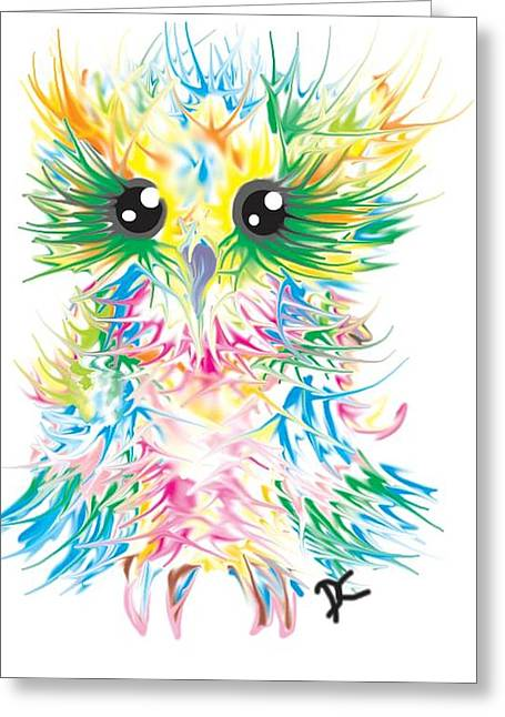 Abstract Owl Greeting Card by Darren Cannell