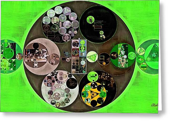 Abstract Painting - Bright Green Greeting Card by Vitaliy Gladkiy