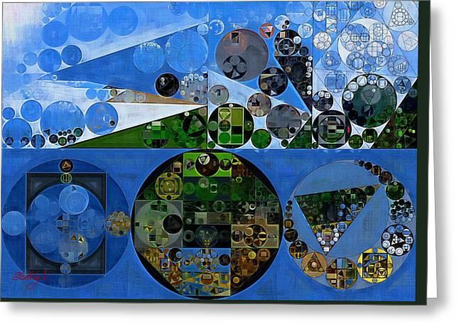 Abstract Painting - Carolina Blue Greeting Card by Vitaliy Gladkiy