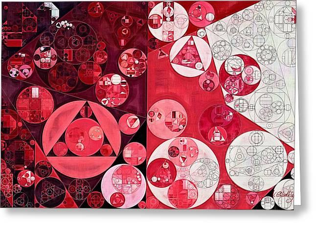 Abstract Painting - Dark Scarlet Greeting Card by Vitaliy Gladkiy