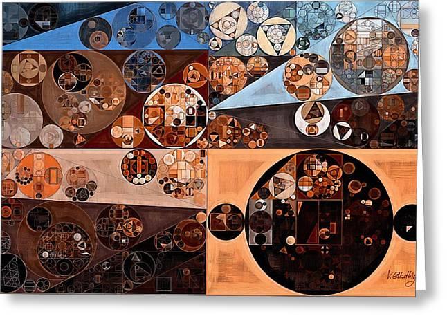 Abstract Painting - Falcon Greeting Card by Vitaliy Gladkiy