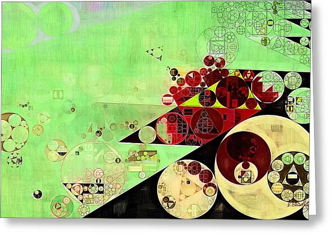 Abstract Painting - Feijoa Greeting Card by Vitaliy Gladkiy