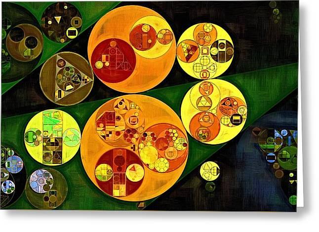 Abstract Painting - Gold Tips Greeting Card by Vitaliy Gladkiy