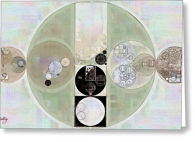 Abstract Painting - Green Spring Greeting Card by Vitaliy Gladkiy