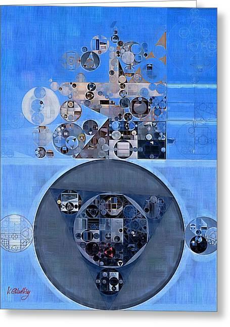 Abstract Painting - Gulf Blue Greeting Card by Vitaliy Gladkiy
