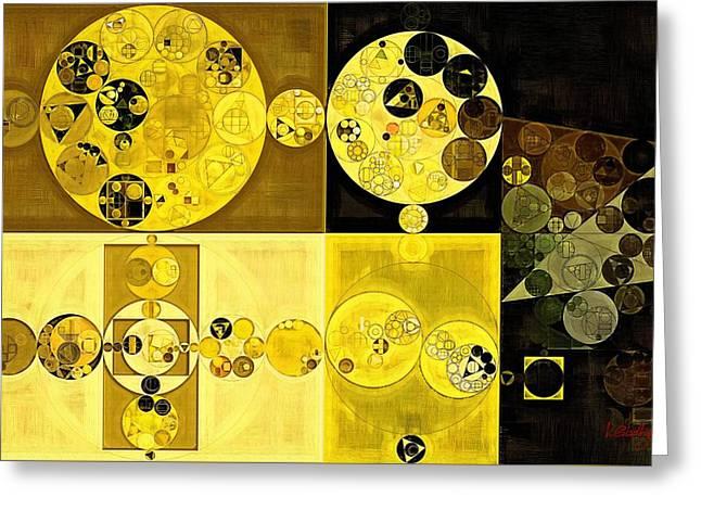 Abstract Painting - Hacienda Greeting Card