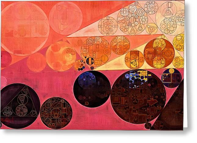 Abstract Painting - Hit Pink Greeting Card by Vitaliy Gladkiy