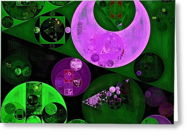 Abstract Painting - Islamic Green Greeting Card by Vitaliy Gladkiy