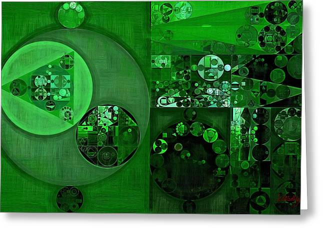 Abstract Painting - La Salle Green Greeting Card