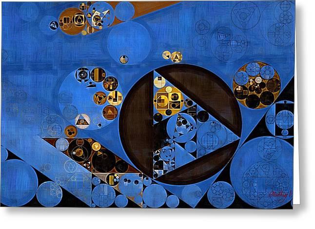 Abstract Painting - Lapis Lazuli Greeting Card by Vitaliy Gladkiy