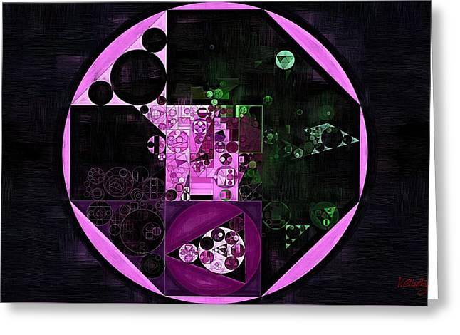 Abstract Painting - Lavender Magenta Greeting Card