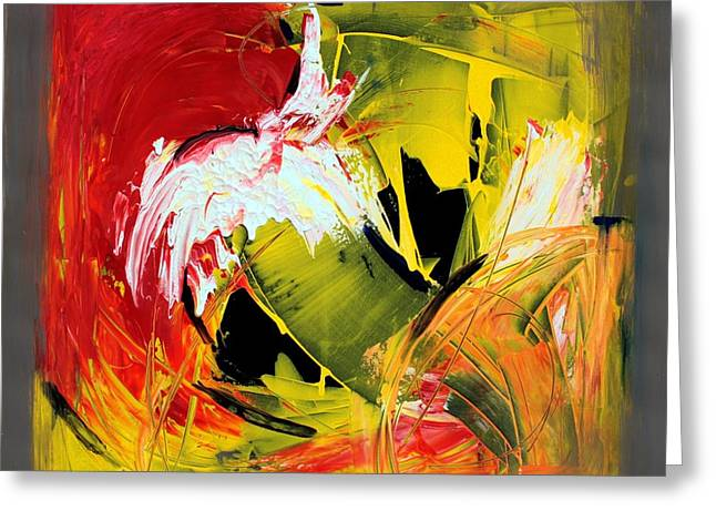 Abstract Painting Greeting Card by Mario Zampedroni