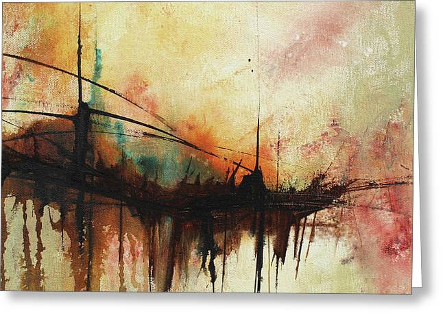 Abstract Painting Contemporary Art Greeting Card