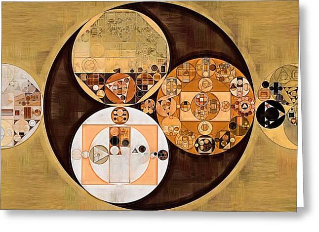 Abstract Painting - New Tan Greeting Card by Vitaliy Gladkiy