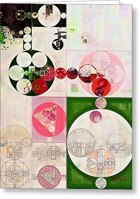 Abstract Painting - Old Rose Greeting Card